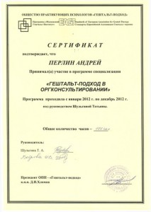 Сертификат оргконсультирование